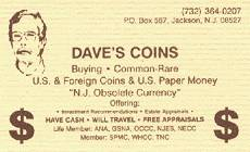 Click to view an enlargement of Dave's business card.